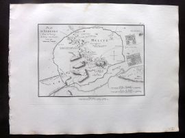 Barthelemy 1824 Antique Map. Plan d'Athenes. Voyage Anacharsis. Athens Greece